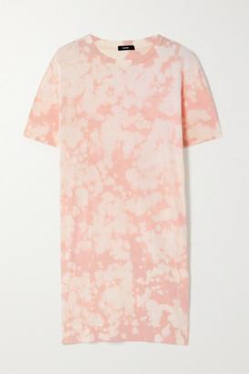 Bassike Motley Tie-dyed Organic Cotton-jersey Mini Dress - Pink