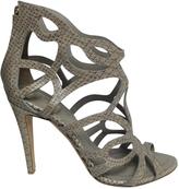 Christian Dior Grey Leather/Snakeskin Sandals