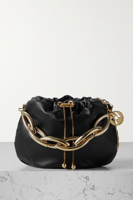 Rosantica Bubble Small Chain-embellished Leather Tote - Black
