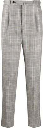 Pt01 Slim Checked Tailored Trousers