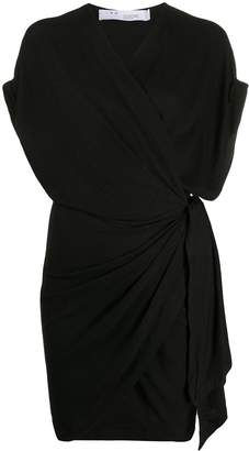 IRO short V-neck wrap dress