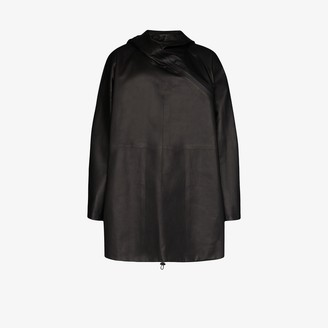 Bottega Veneta Hooded Leather Parka