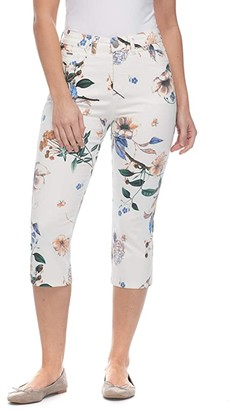 FDJ French Dressing Jeans Euro Printed Twill Suzanne Capris in Multi (Multi) Women's Casual Pants