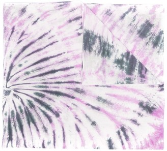 Isabel Marant Logo-Embroidered Tie-Dye Scarf