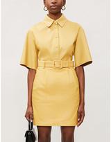 Remain Birger Christensen Flora belted leather mini skirt