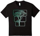 Kids Three Piece Tree T-Shirt Nature 3 Trees Trunk To Treetop Tee 8