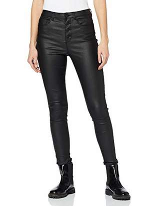 Only Women's Onlroyal Hw Sk Button Coated Jeans Skinny,(Size: S)
