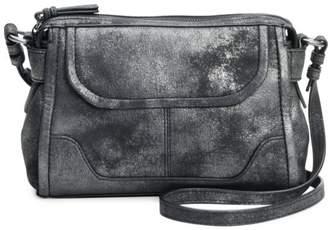 Frye Mel Metallic Leather Crossbody Bag