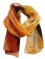 Datework Women Chinese Ink Style Wrap Lady Shawl Chiffon Scarf Scarves (Orange)