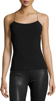 Alexander Wang Strappy Cross-Back Cutout Camisole, Black