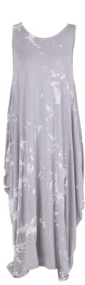 Lushstyleuk New Ladies Italian Tie & Dye Sleeveless Dress Women Lagenlook Dress Plus Sizes (Light Grey)
