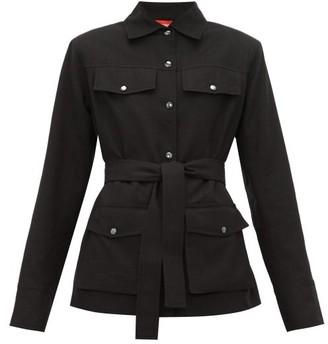 Art School - Patch-pocket Cotton-linen Utility Jacket - Black