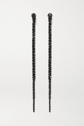 Simone Rocha Drip Crystal Earrings - Black