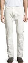Etro Tonal Paisley Straight-Leg Jeans, Off White
