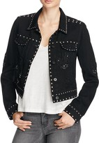 Paige Vivienne Embellished Cropped Denim Jacket