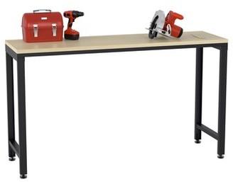 "ClosetMaid ProGarage 60.6"" W Adjustable Height Wood Top Workbench"