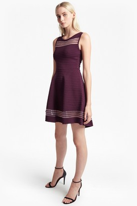 French Connection Tobey Crepe Knit Mini Skater Dress
