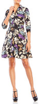 Samantha Sung Printed Belted Shirtdress