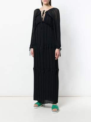 P.A.R.O.S.H. v-neck long-sleeved maxi dress