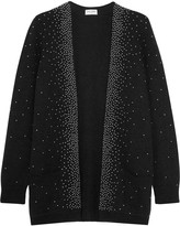 Saint Laurent Oversized studded mohair-blend cardigan
