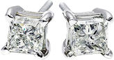 JCPenney FINE JEWELRY 1/2 CT. T.W. Diamond Princess-Cut Stud Earrings