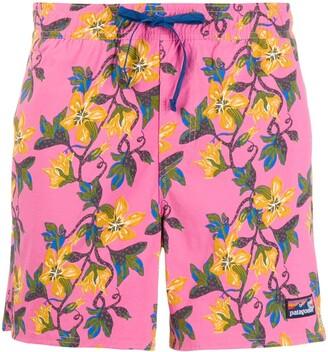 Patagonia Wavefarer floral-print swim shorts