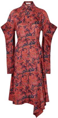 J.W.Anderson Paisley-print draped shirt dress