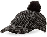 BCBGeneration Faux Fur Pom-Pom Baseball Cap