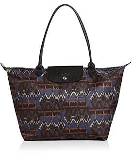 Longchamp Le Pliage Large Ikat Nylon Tote