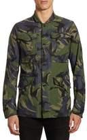 G Star Vodan Camouflage Cotton Worker Button-Down Shirt