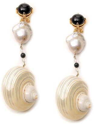 Prada Shell Earrings