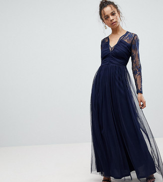 ASOS Lace Maxi Dress with Long Sleeves