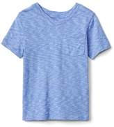 Gap V-neck pocket slub tee
