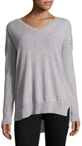 Qi High Low Cashmere Sweater