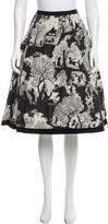 Oscar de la Renta Jacquard Knee-Length Skirt