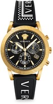 Versace 90s Vintage Logo Sport Tech Chronograph Watch