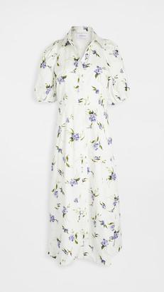 Les Rêveries Puff Sleeve Shirt Dress