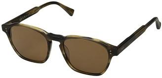 Raen Aren 53 (Fog Crystal/Bottle Green) Sport Sunglasses