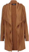 Magaschoni Fringed draped cashmere cardigan