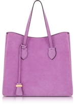 Coccinelle Celene Orchid Suede Tote Bag