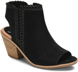 Sofft Leather Whipstitched Peep-Toe Booties - Maleigha