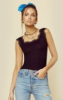 LnA Clothing LACE TRIM RIB TANK | New