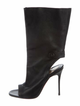 Christian Louboutin Leather Gladiator Sandals Black