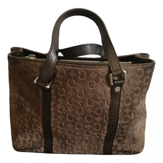 Celine Grey Suede Handbags