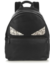 Fendi Bag Bugs Leather And Snakeskin Backpack