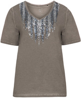 Via Appia Plus Size Short sleeve sequin top