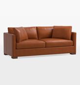 "Rejuvenation 84"" Wrenton Studio Leather Sofa"