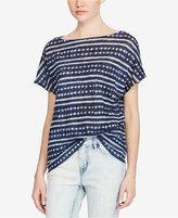 Lauren Ralph Lauren Tie-Dye Knit Linen Top