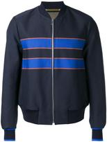 Paul Smith striped detail bomber jacket