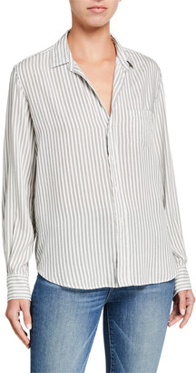 Frank And Eileen Striped Long-Sleeve Button-Down Top